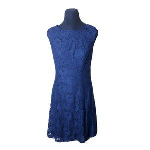American Living Blue w/Lace Overlay Sheath…